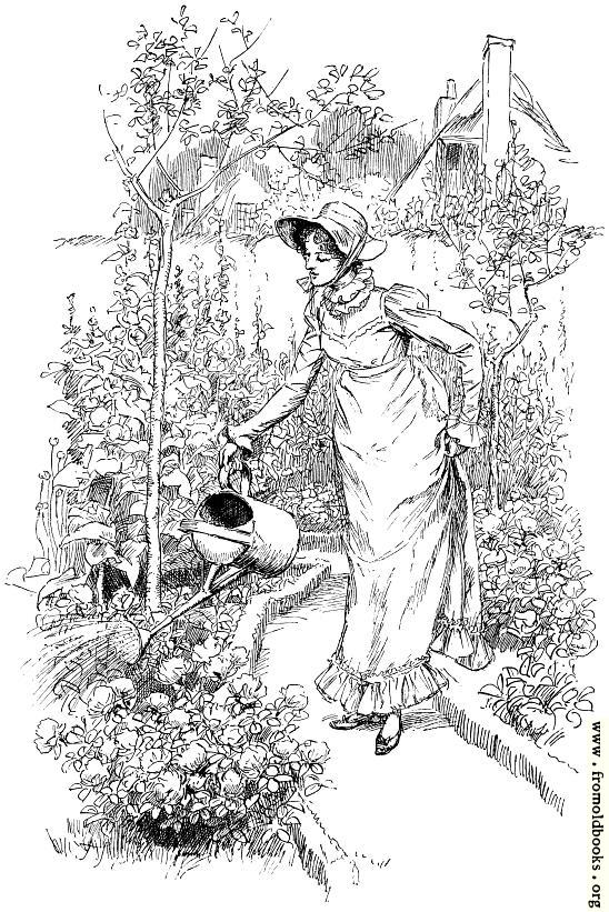 [Picture: Frontispiece: Watering My Flowers]