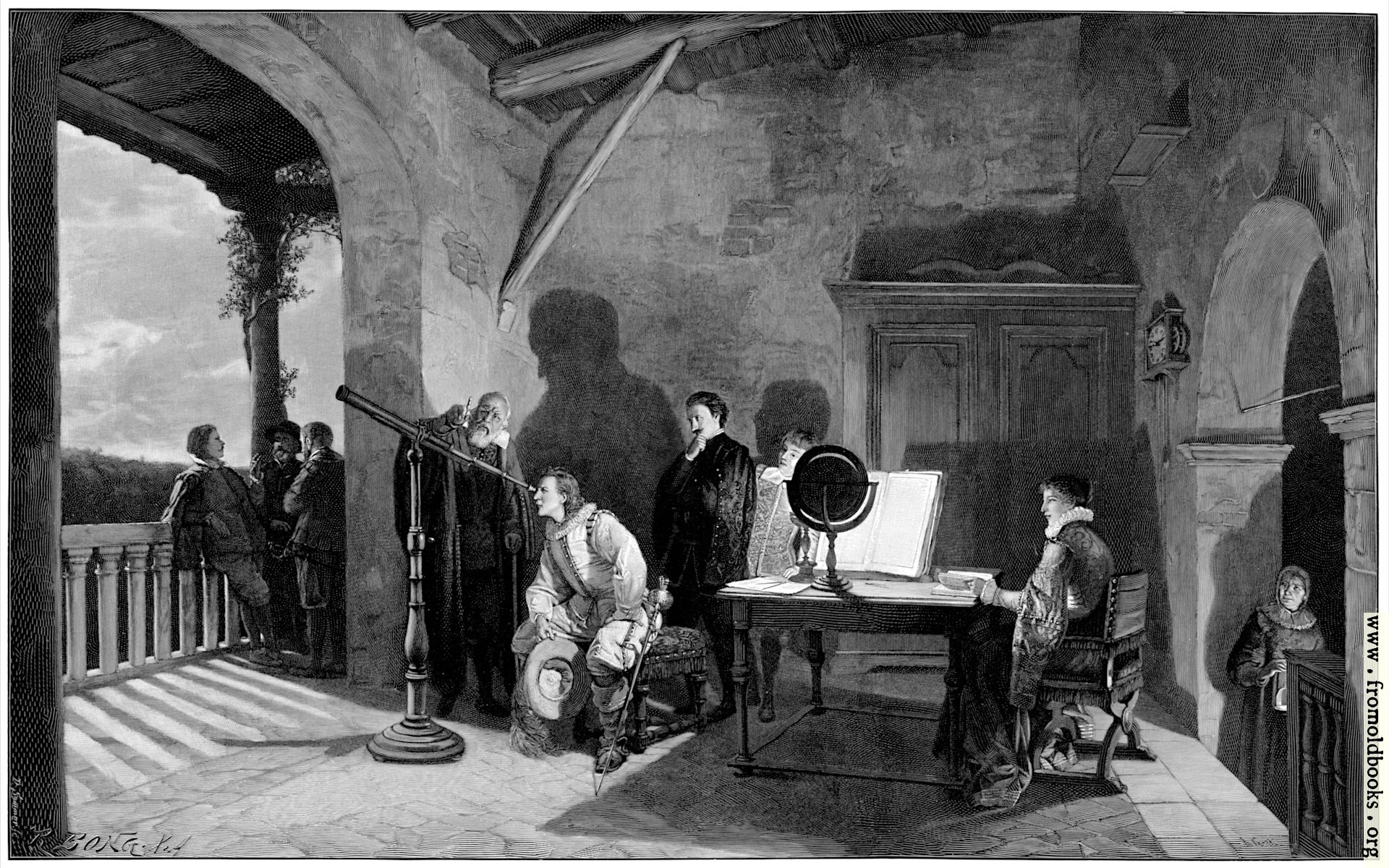 [Picture: Galileo at the Florentine Royal Court]