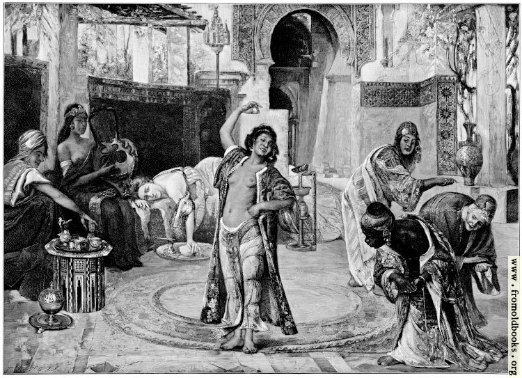 [Picture: G. Tornai: At the harem]