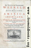 [picture: Title Page, Descrtion of the new World]
