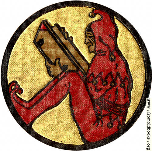 [Picture: Front Cover detail: jester reading a book]