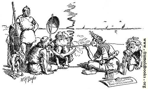 [Picture: Cæsar treating with the Britons]