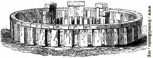 [Picture: 3.—Stonehenge. – Perspective Elevation, restored.]