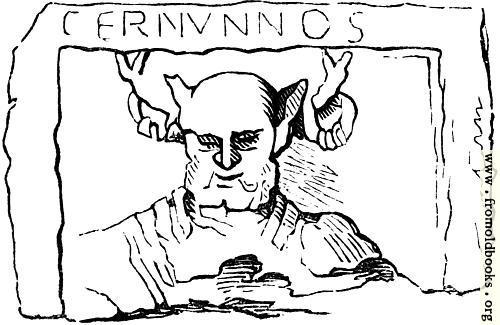 [Picture: 11.—Gaulish Deity.  Cernunnos.]