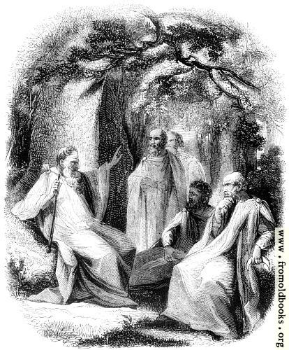 [Picture: 15.—Group of Arch-Druid and Druids]