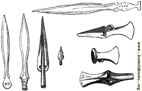 [Picture: 31.—British Weapons of Bronze, in their earliest and improved state.]