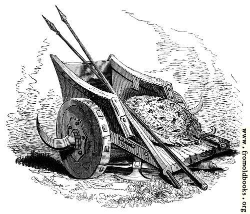 [Picture: 75.—British War Chariot, Shield and Spears.]