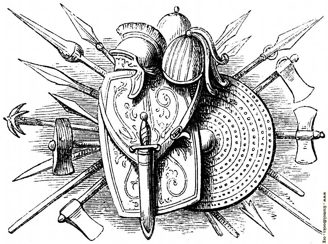 [Picture: 80.—British and Roman Weapons.]