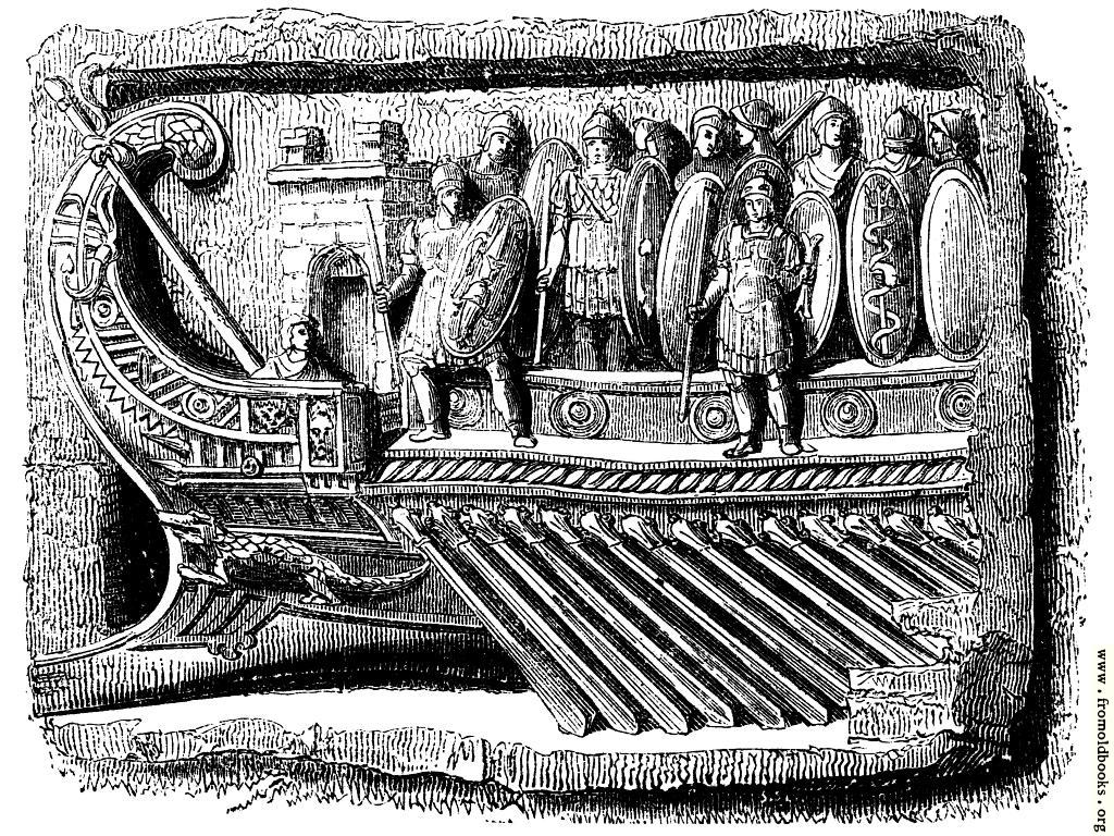 [Picture: 86.—Prow of a Roman Galley.]