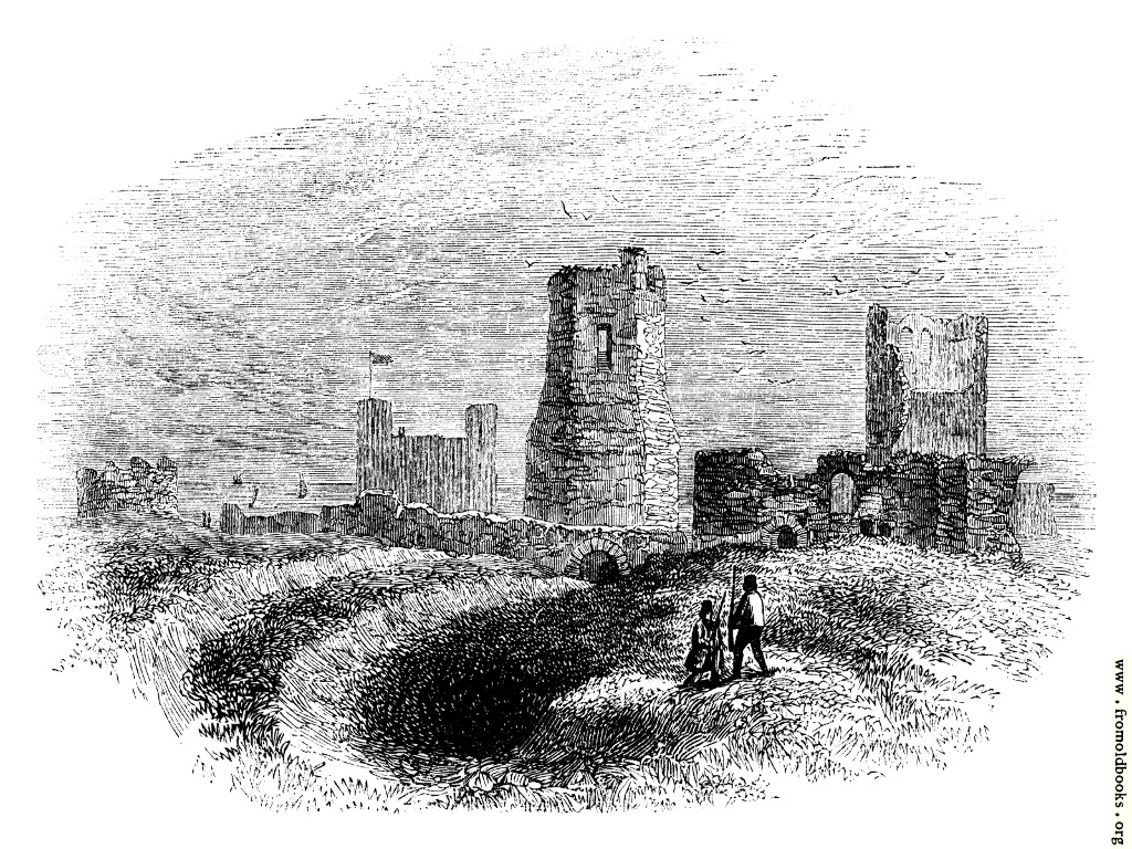 [Picture: 89. Roman Lighthouse, Church and Trenches in Dover Castle.]