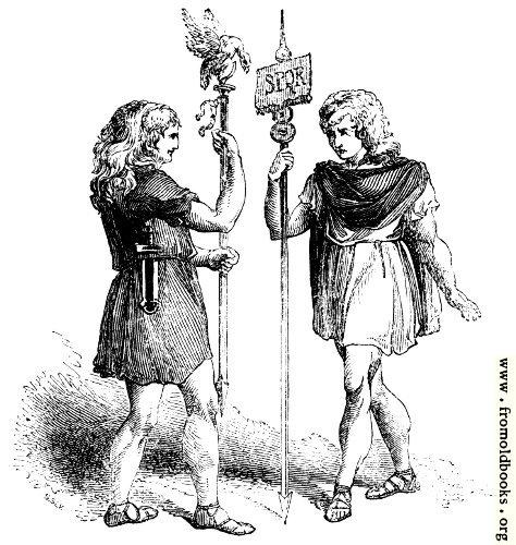 [Picture: 96.—Roman Standard Bearers.]