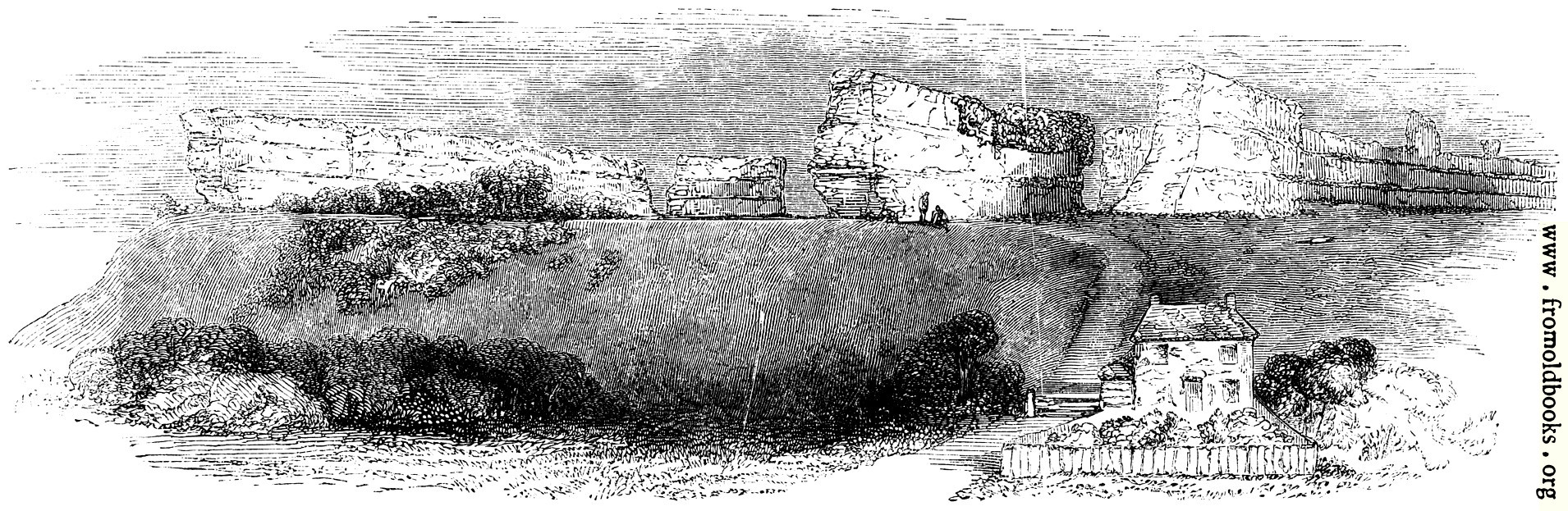[Picture: 99.—Richborough.  General View, from the East.]