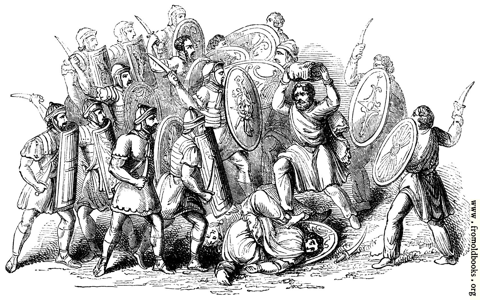 114 Conflict Between Romans And Barbarians