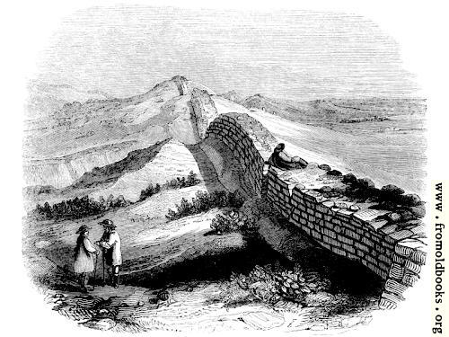 [Picture: 132.—Wall of Severus, near Housestead, Northumberland.]
