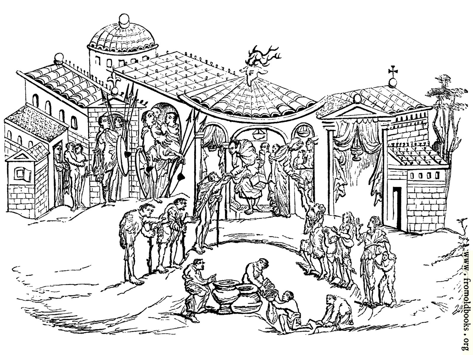 [Picture: 229.—Residence of a Saxon Nobleman.]