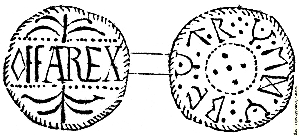[Picture: 234.—Silver Penny of Offa, King of Mercia.]
