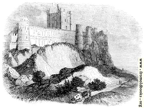[Picture: 383.—Rock of Bamborough with Castle.]