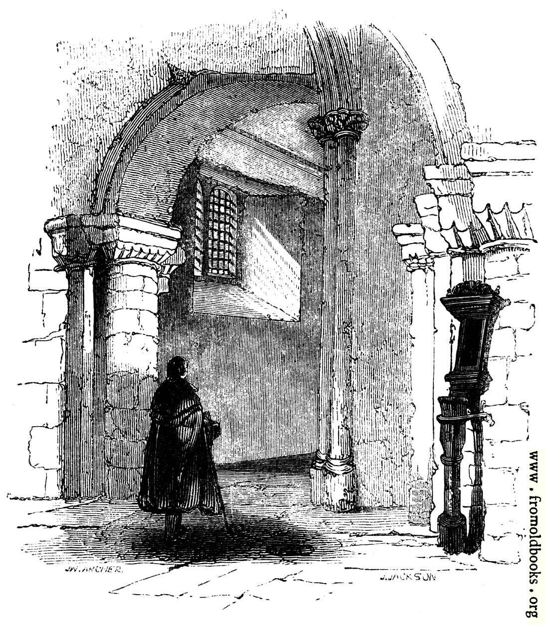 [Picture: 527.—The Western Entrance, Interior, St. Bartholomew's church.]