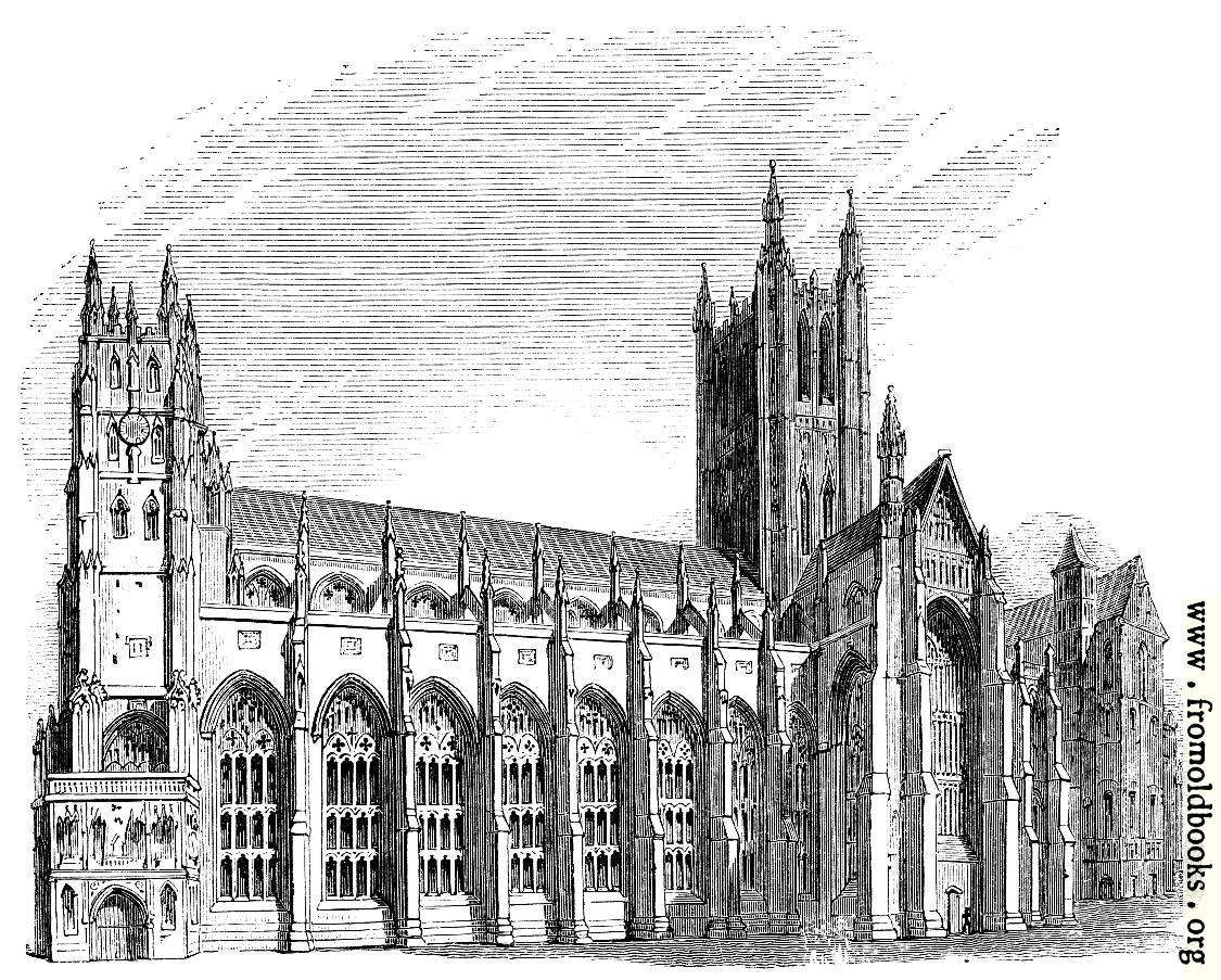 [Picture: 565.—Canterbury Cathedral, South Side.]