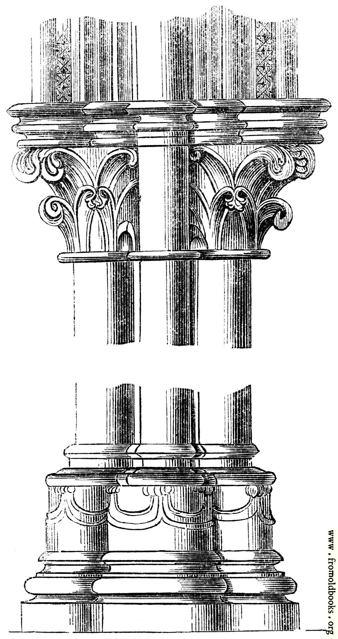 [Picture: 568.—Capital and base, S.E. Transept, Canterbury]