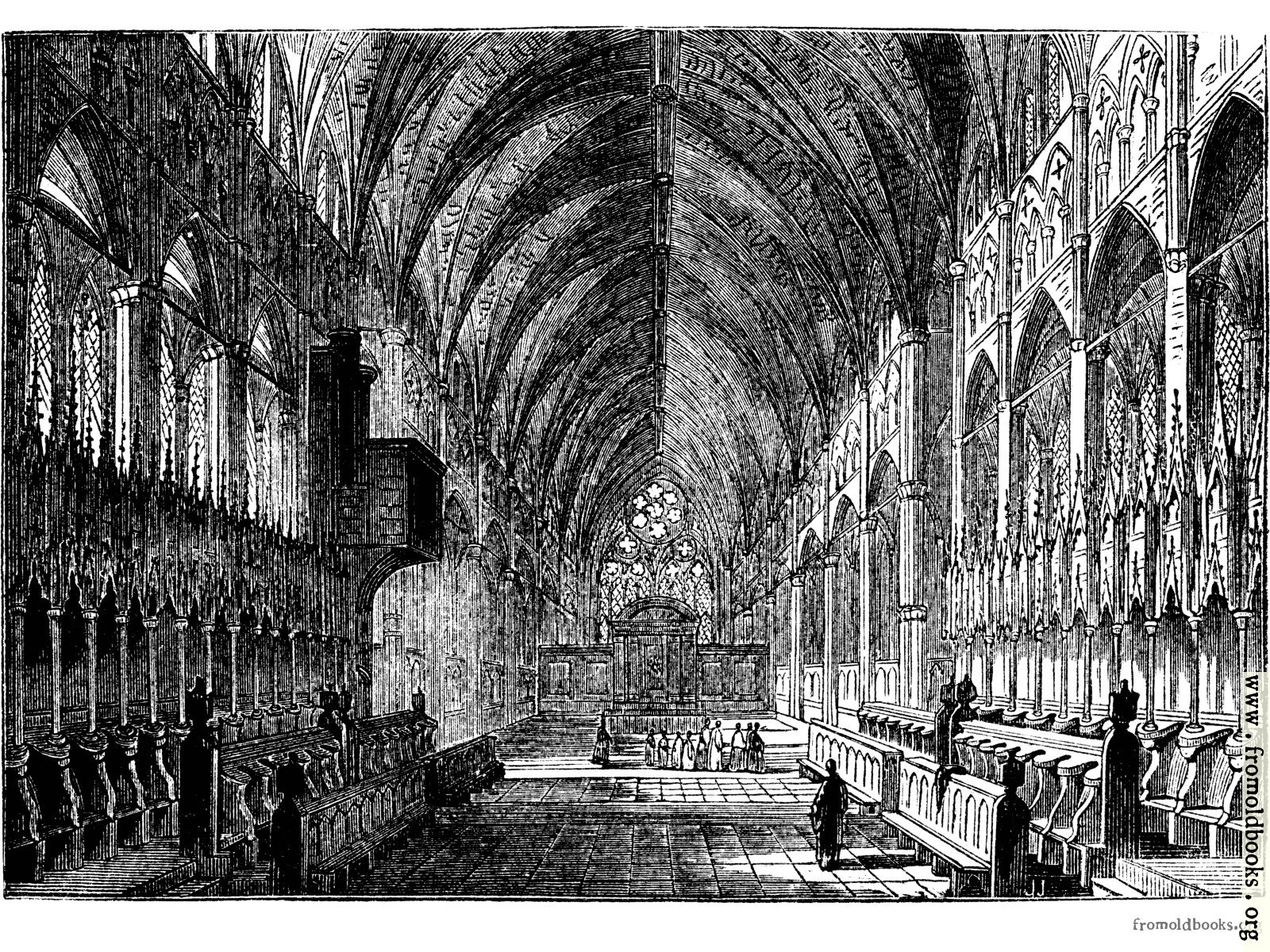 [Picture: 577.—Interior of Lincoln Cathedral.]