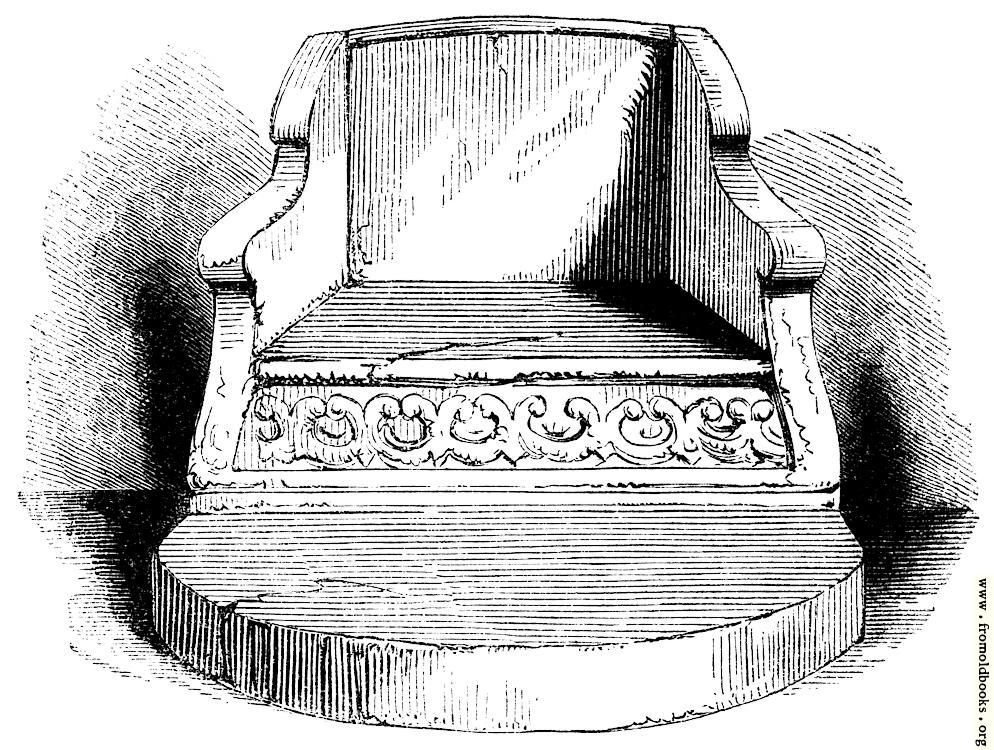 [Picture: 590.—Stone Chair in the Chapter House, Durham.]