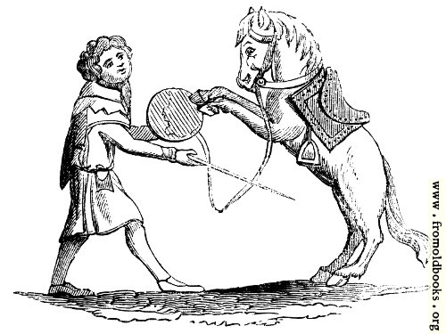 [Picture: 784.—Horse Beating a Tabor.]