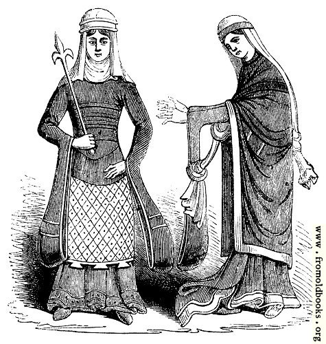 [Picture: 790.—Costume of Norman English Ladies in 12th Century.]