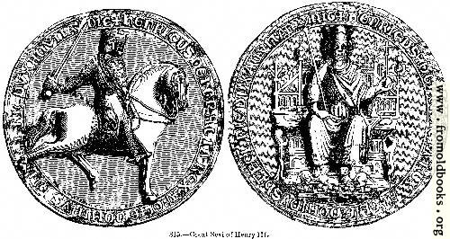 [Picture: 815.—Great Seal of Henry III.]