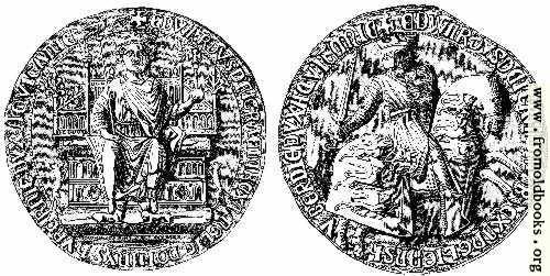 [Picture: 828.—Great Seal of Edward I.]