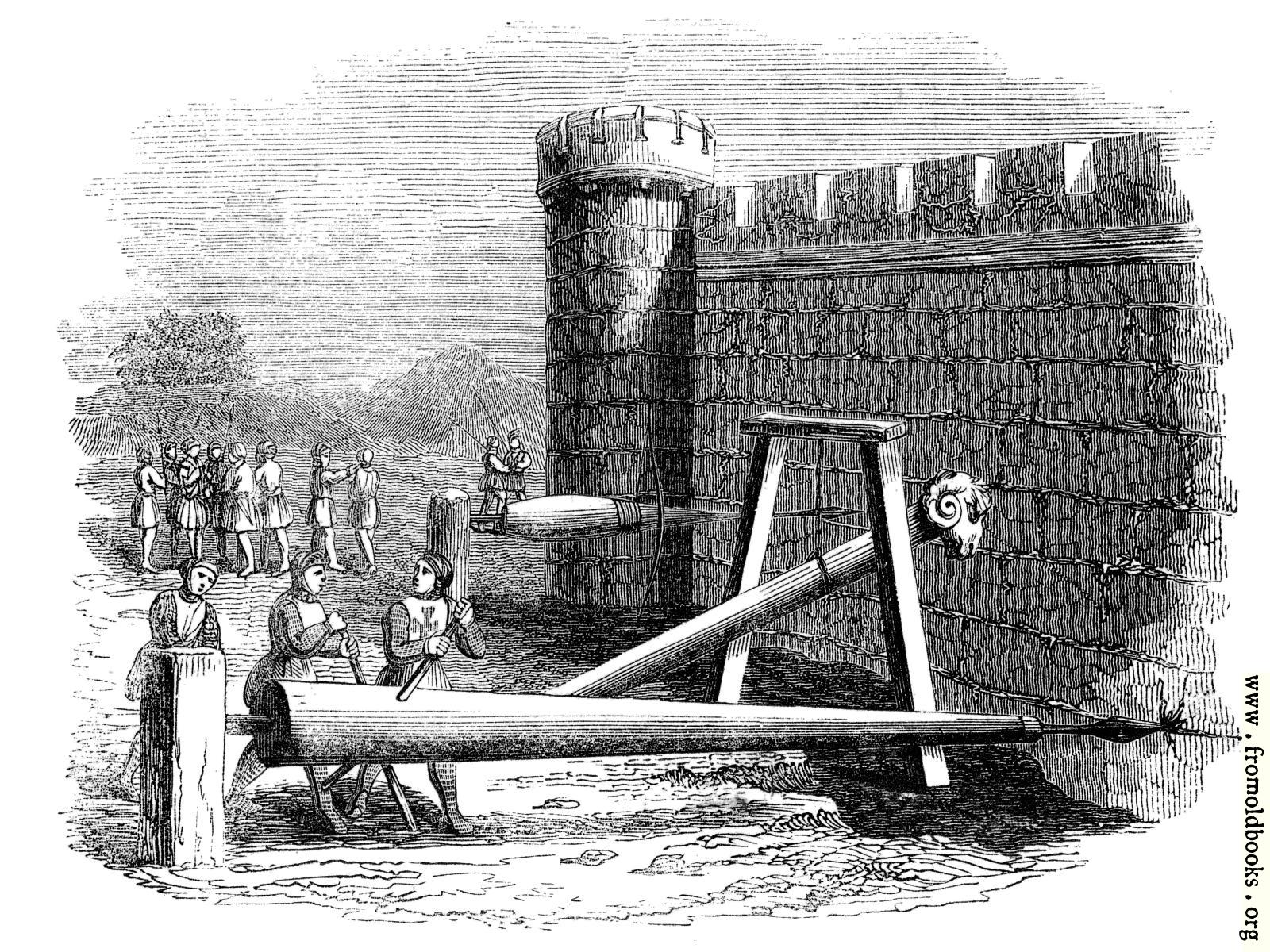 [Picture: 870.—Machines for Boring Holes in Castle Walls.]