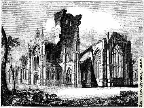 [Picture: 1057.—South east View of Melrose Abbey]