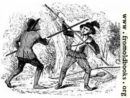 [Picture: 1144.—Quarter-staff (From the Old Ballad of Robin Hood and the Tanner.)]