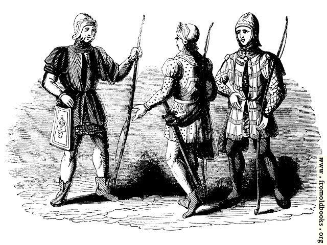 [Picture: 1250.—Archers. (From various MSS. of the 14th Century.)]