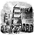 [Picture: 1253.—Breaching Tower; Archers behind their Pavison; Canon, Crossbow-men, &c.]