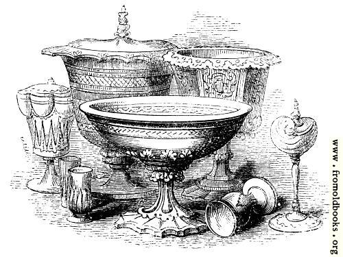 [Picture: chalices, wassailing bowl, cups]
