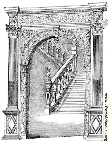 [Picture: Staircase at Claverton, Somersetshire]