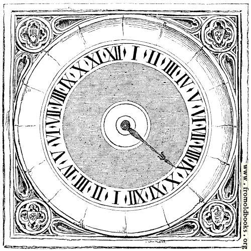 [Picture: 1732.—Clock at Hampton Court.]