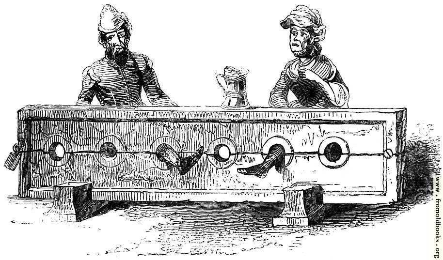 [Picture: 1734.—Man and Woman in Stocks.]