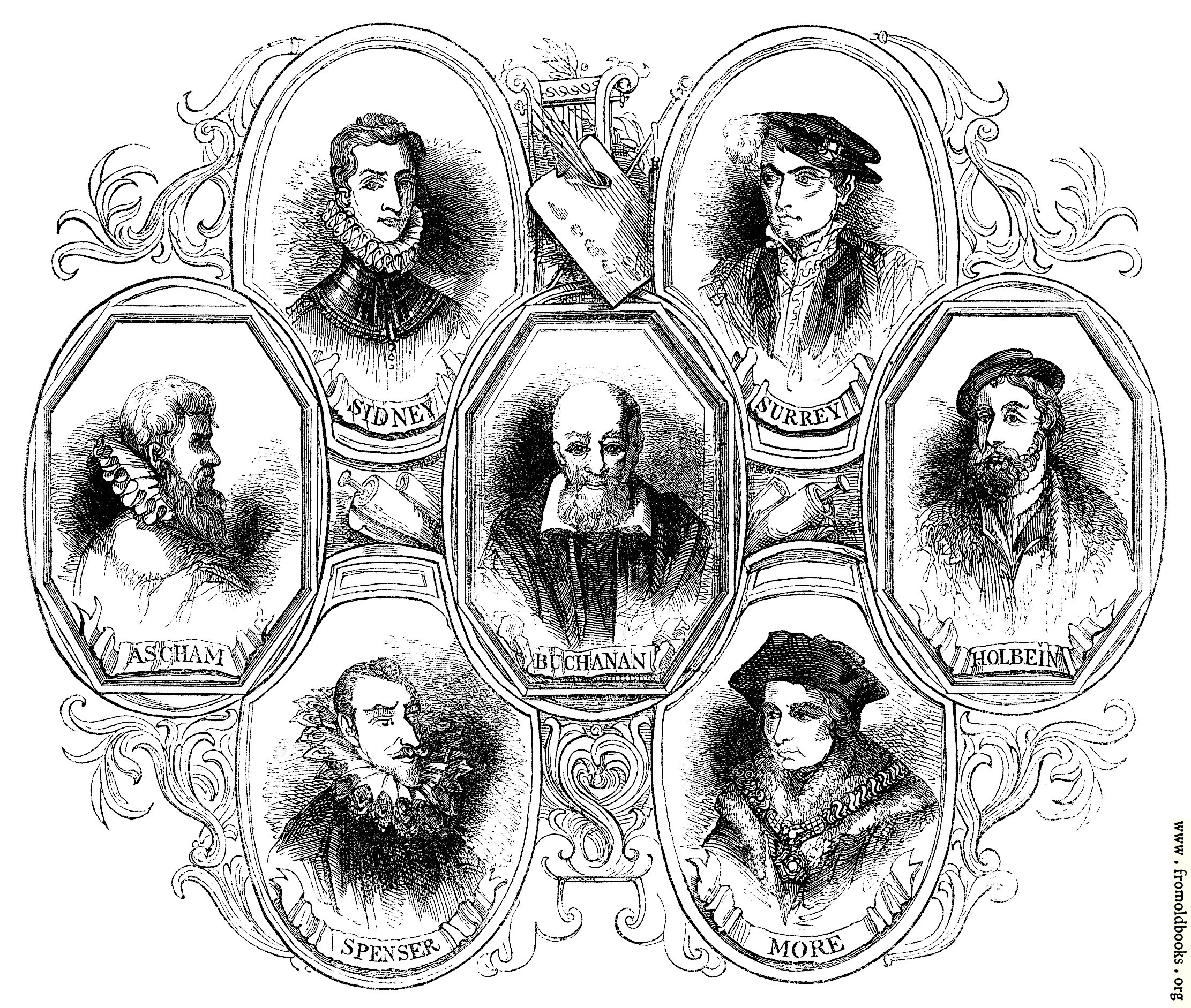 [Picture: 1737.—Portraits of Poets At the time of Shakespeare]