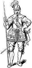 [Picture: 2046.—Pikeman, 1635. (From a Specimen at Goodrich Court.)]