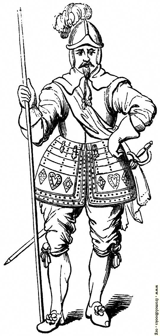 [Picture: 2046.—Pikeman, 1635. (From a Specimen at Goodrich Court.)]