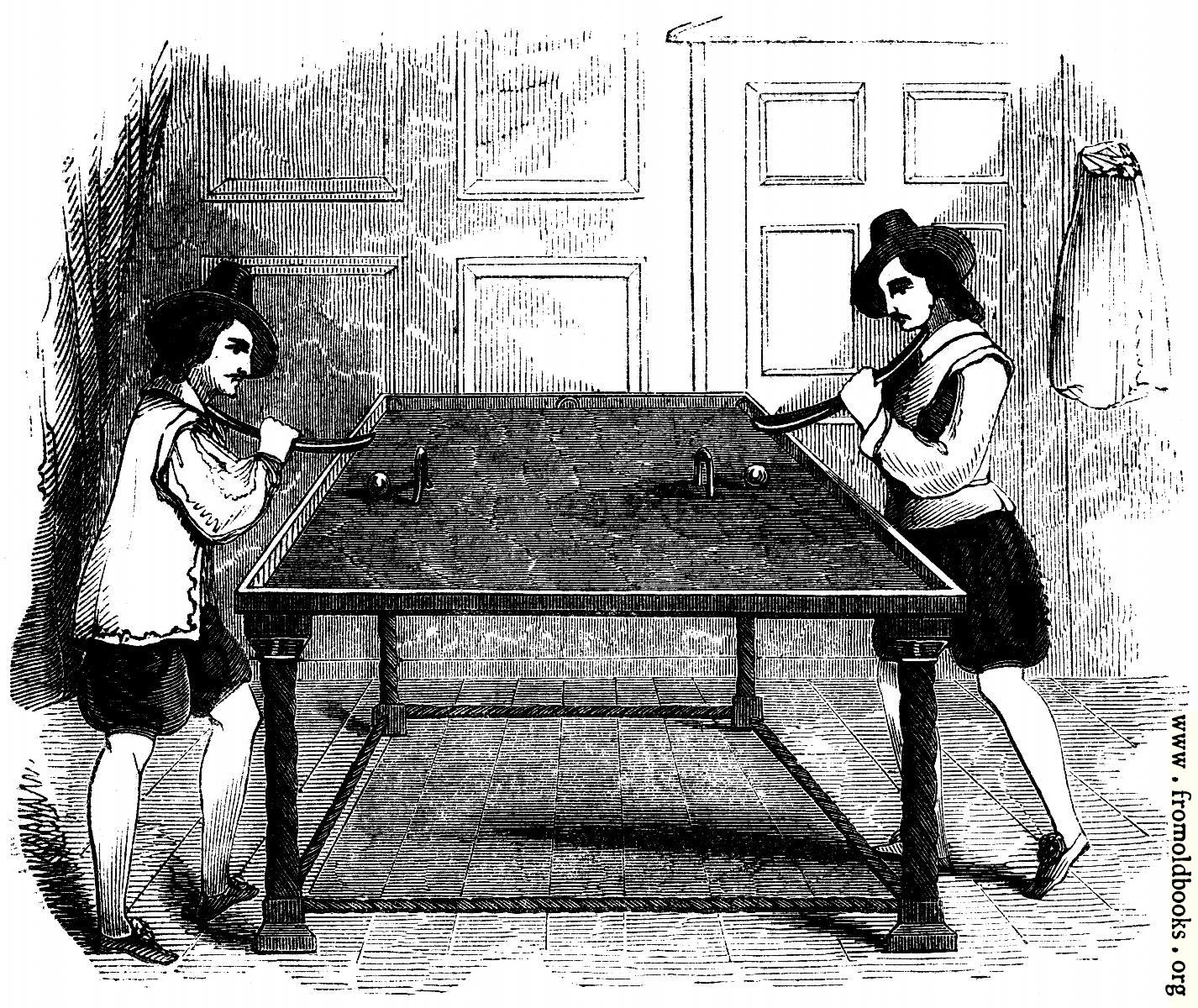 "[Picture: 2153.—Billiards (From ""School of Recreation,"" 1710)]"