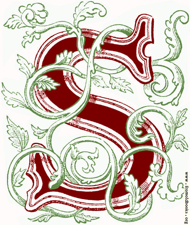 """[Picture: Floriated initial capital letter """"S"""" (coloured version)]"""