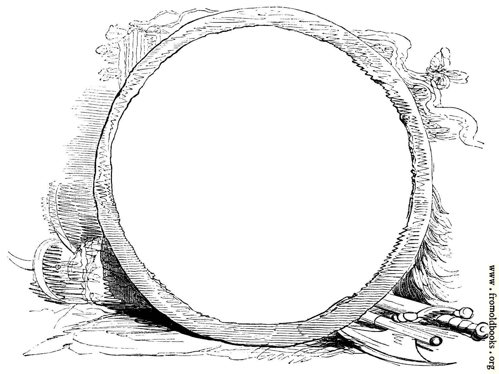 [Picture: Circular Frame With Weapons]