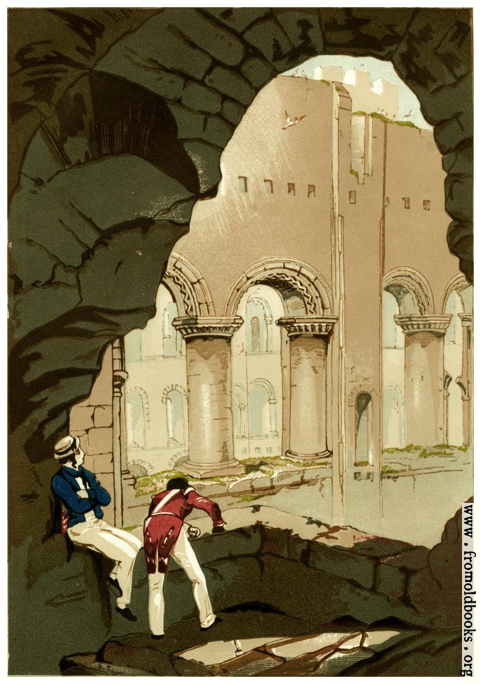 [Picture: Plate 3.—Rochester Castle.—Interior.]