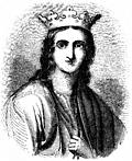 Engraving: Portrait of Queen Eleanor