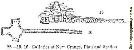[picture: 22.---Galleries at New Grange, Plan and Section]