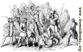 [picture: 114.---Conflict between Romans and Barbarians.]