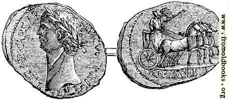 [picture: 119.---Coin of Claudius, representing his British triumph.  From the British Museum.]